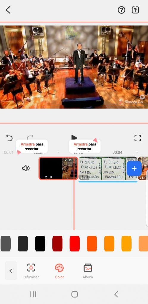 Filmorago editor de videos